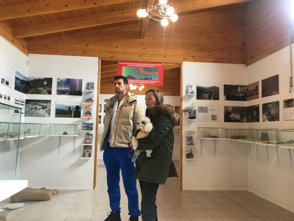 Novak i Jelena Đoković obilaze Bosansku dolinu piramida u Visokom - RTV  VISOKO